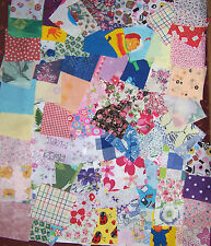 "30 craft patchwork fabric material remnants size 5 1/2"" x 5 1/2"""