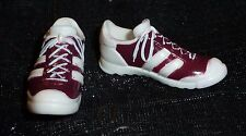 SHOES ~ KEN DOLL MODEL MUSE MAROON WHITE TEXAS A & M SNEAKERS TENNIS SHOES