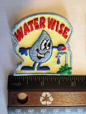 Girl Scout/Camp Fire/Boy Scout Water Wise Patches set of 2