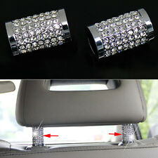 Aluminium Alloy Ice Diamond Bling Car Truck Headrest Collars Silver Decoration