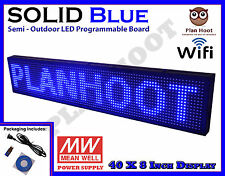 "BLUE 40""X8"" LED PROGRAMMABLE SCROLLING SIGN FOR SEMI OUTDOOR USE WIFI USB MOBILE"