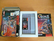 CONTRA 3 THE ALIEN WARS SNES USA NTSC COMPLETE