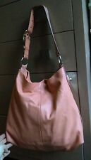 COACH PENELOPE Coral/Peach Pebbled Leather Large Tote Shoulder Bag Purse 16535