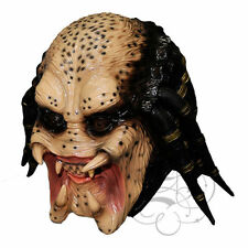 Halloween Movie Costume Aliean Hunter Head Latex  Horror Dress Up Party Masks