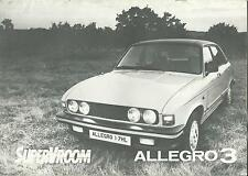 Austin Allegro 3 UK Market Brochure 1979 Includes 1.3l 1.5l & 1.7l Models