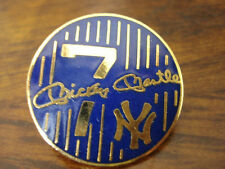 Mickey Mantle Round Jersey Pin LTD Ed Only 500 Produced