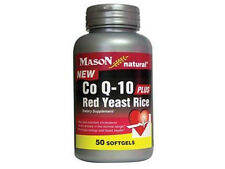 50 SOFTGELS COQ10 PLUS RED YEAST RICE Cholesterol Support  CO Q-10 heart health