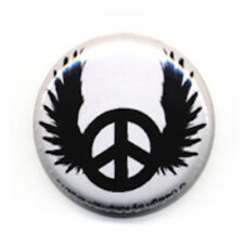 Badge PEACE ANGEL wings love Rock Rockabilly Punk Biker tattoo ange kawaii Ø25mm