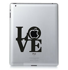 APPLE LOVE LOGO. Apple iPad Mac Macbook Sticker Vinyl decal. Custom colour