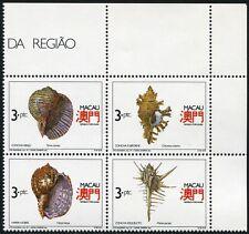 MACAU MACAO 1991 Schneckenhäuser Shells 672-75 ** MNH