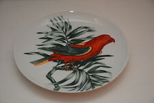 "Fitz and Floyd Perroquet Red Bird Branch Plate 7.5"" Diameter Japan"