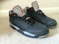 NIKE AIR JORDAN FLIGHT TRAINERS UK 10 / 44 2013 EDITION BLACK / RED