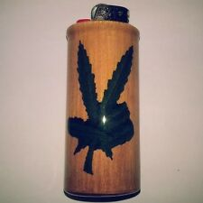 Pot Peace Bic Lighter Case Weed Marijuana Ganja Holder Sleeve Cover