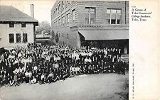 1907 Group of Tyler Commercial College Students Tyler TX post card