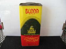 Vintage BUDDA Talcum Powder Tin~Rare Find~Cardboard Not Tin