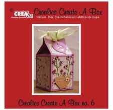 Crealies Cutting Die Stencil Create A Gift Box No. 6 - Milk Carton - Crafts