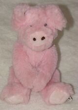 "Boyds Bears & Friends Stuffed Plush Fluffy Pink Pig w/sound 1988-2007 12"" Furry"
