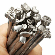 20 pcs DIY Leather Working Saddle Making Tools Set Carving Leather Craft Stamps