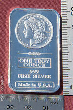 1x 1oz Morgan minted 99.9% .999 pure bullion silver bar