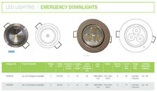 3W LED 3HR Emergency Light Fitting Eecessed Downlig Non Or Maintained Downlight