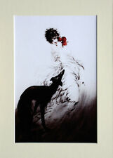 "Louis Icart Mounted Print - Favourite Scent  LC13 - Erotic Art  SIZE  14"" X 10"""