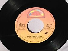 """45 7"""" THE ROVERS Wasn't That A Party/Here's To The Horses CANADA 231 NM"""