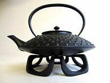 Teavana Japanese Wazuqu Texturized Hobnail Cast Iron Tea Pot Kettle MCM w/STAND