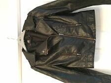 H&M black faux leather jacket ripped / torn size 8