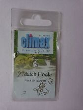 Climax premium quality Match fishing 25 hooks size 20 spade end barbed No 410