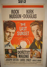 The Last Sunset Original 1sh Movie Poster 1961 Rock Hudson, Kirk Douglas,
