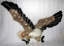 """EAGLE COVERED RABBIT FUR WALL HANGING 3-D SCULPTURE RARE WING SPAN 21"""" INCH"""