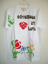 Sir Alistair Rai white T shirt Flower Child Governed By Love SZ M New