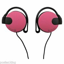 Pink 3.5mm On-Ear Clip Sports Foam Jogging Running Earphones for Apple iPod MP3