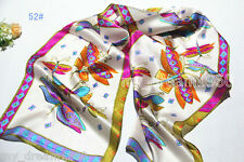 100% Silk Butterfly Abstract Animals Pattern Soft Long Shawl Scarf Stole Wrap