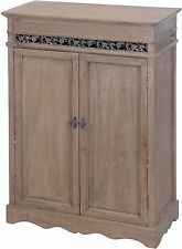 Shabby Kommode mit 2 Türen Schrank Holz Anrichte Landhaus braun/grau 87x62x29