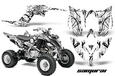 YAMAHA RAPTOR 700 2013 GRAPHICS KIT CREATORX DECALS SAMURAI BW