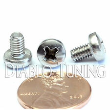 M4 x 6mm - Qty 10 - Stainless Steel Phillips Pan Head Machine Screws DIN 7985 A