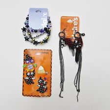 Claire's Girl Jewelry Lot Halloween Accessories - Clip, Bracelets Skull Earrings