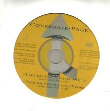 David Coverdale Jimmy Page Take Me for RARE EDITS PROMO CD Single Led Zeppelin