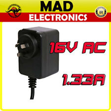 16V AC 1.33A Power Supply with Earth Connection Suits 16V or 17V Alarm Panels