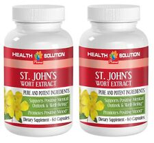 St. John's Wort Herb - Well Being. Promotes Positive Mood (2 Bottles 120 Caps)