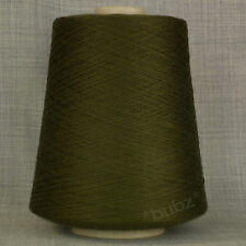 ITALIAN PURE MERINO WOOL 2/30s OLIVE GREEN LACEWEIGHT YARN 1 PLY LINEA PIU DARK