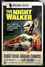 Original Copyright 1965 THE NIGHT WALKER Framed Movie Poster 65/100