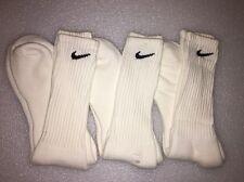 Men's Vintage NIKE TUBE Socks White Black 90s Orlon USA Running Basketball