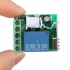 315MHz DC 12V 10A 1 CH Wireless Relay RF Remote Control Light Switch Receiver