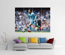 DAVID SILVA MANCHESTER CITY FC GIANT WALL ART PICTURE PHOTO POSTER