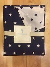 NEW POTTERY BARN KIDS STARS  DUVET COVER NAVY  FULL/QUEEN $99 ORGANIC
