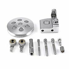 Chevy SBC Type 2 Billet Aluminum Power Steering Pump Bracket kit with Pulley