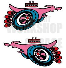 Ford XY GT SUPER ROO PINK - RED Large Decal  - Stickers