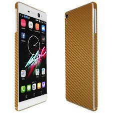 Skinomi Gold Carbon Fiber Skin+Clear Screen Protector for Sony Xperia XA Ultra